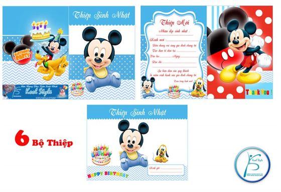 Thiệp mời sinh nhật Mickey