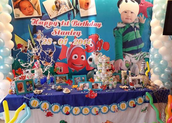 Trang trí bàn sinh nhật