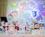 Trang trí sinh nhật bé gái đẹp lung linh sắc màu