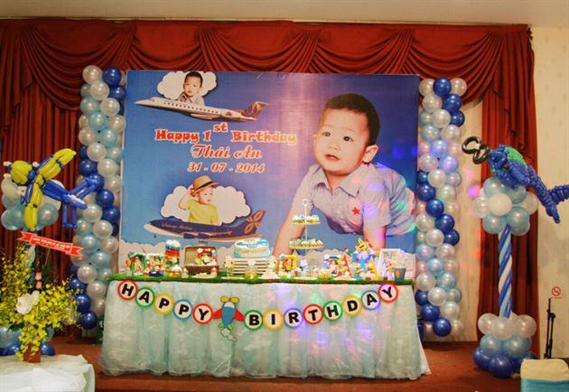 Trang trí sinh nhật cho bé trai