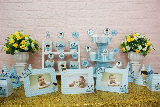 Trang trí sinh nhật bằng full set baby prince