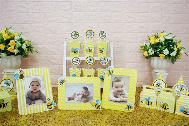Trang trí sinh nhật set mini bé ong
