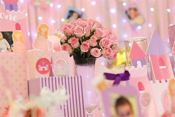Trang trí sinh nhật trọn gói cho bé gái tông màu hồng