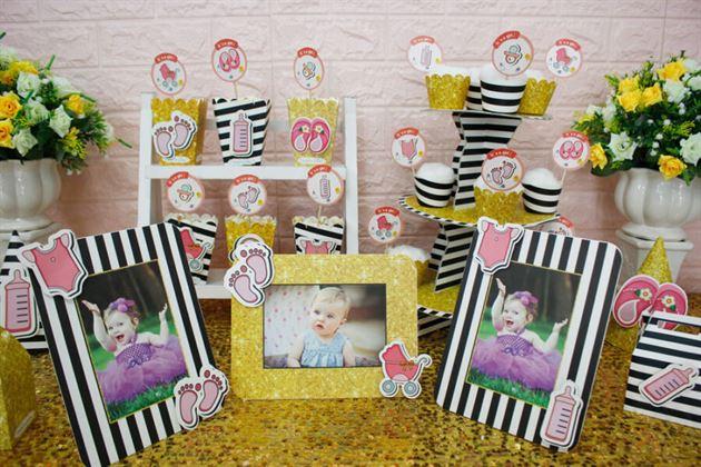 Trang trí sinh nhật bé gái với full set