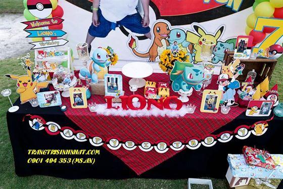 Trang trí sinh nhật trọn gói theo chủ đề POKEMON cho bé trai