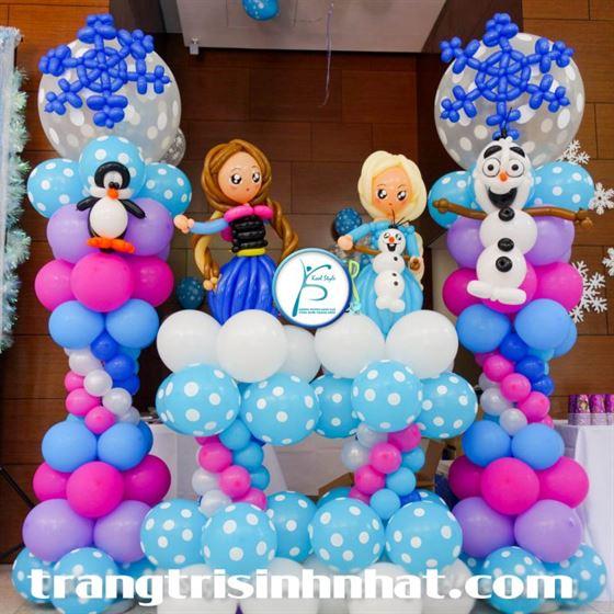 Trang trí bộ trụ bong bóng Frozen