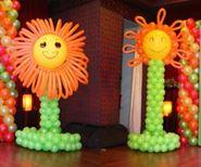 Trang trí trụ bong bóng nghệ thuật Mặt Trời
