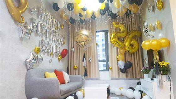 Trang trí bong bóng sinh nhật cho vợ