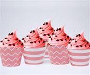 Vỏ bánh cupcake màu hồng hoàng gia