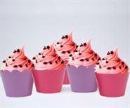 Vỏ bánh cupcake màu hồng tím