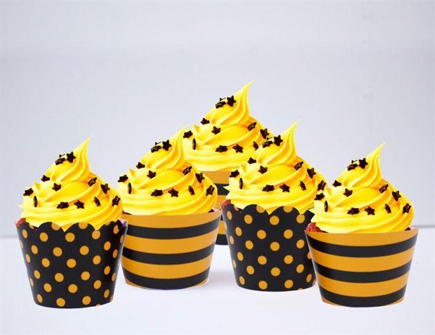 Vỏ bánh cupcake màu vàng đen