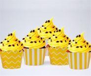 Vỏ bánh cupcake màu vàng hoàng gia