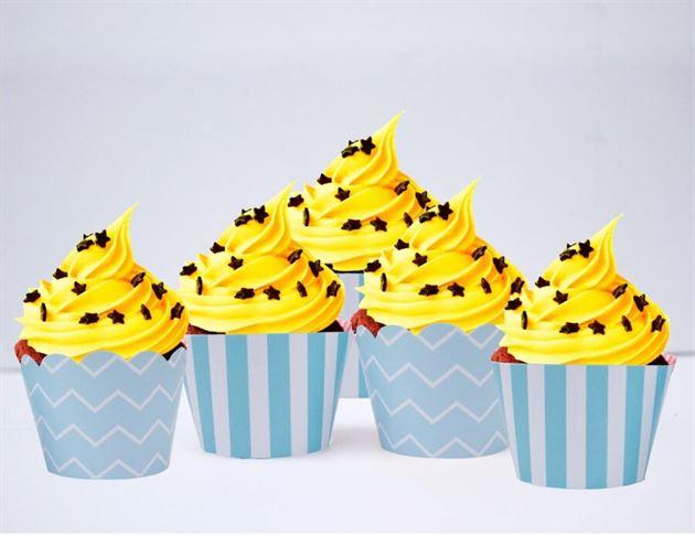 Vỏ bánh cupcake màu xanh da trời