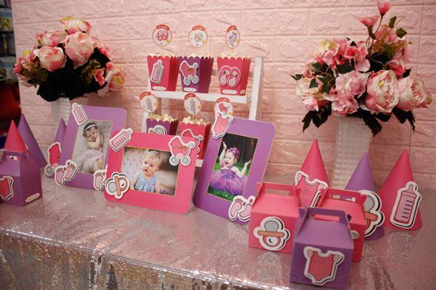 Ý tưởng trang trí sinh nhật cho bé gái với hình ảnh bé con đáng yêu