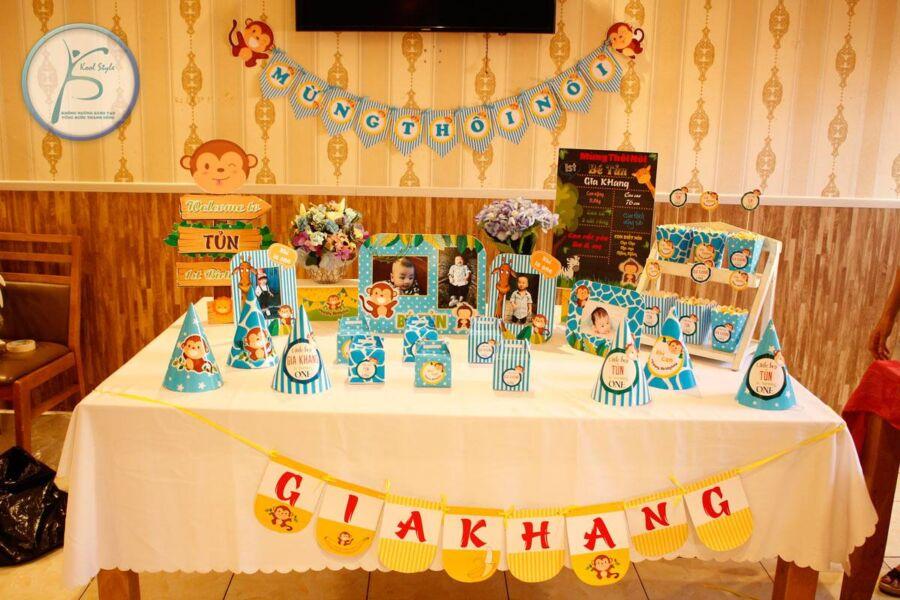 Bộ set trang trí sinh nhật cho bé trai