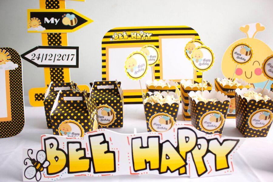 Chữ sinh nhật cho bé ong vàng