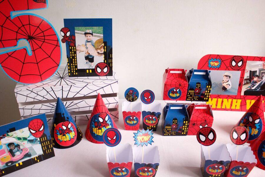 Đồ trang trí sinh nhật chủ đề Spiderman