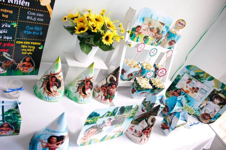 Phụ kiện trang trí sinh nhật cho bé gái Moana