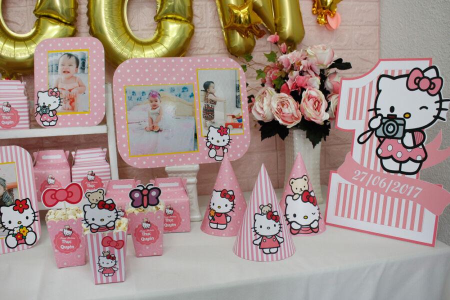Phụ kiện trang trí sinh nhật cho bé chủ đề Kitty