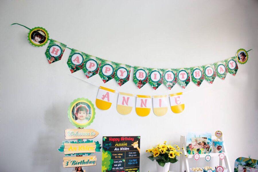 Đồ trang trí sinh nhật thôi nôi cho bé gái