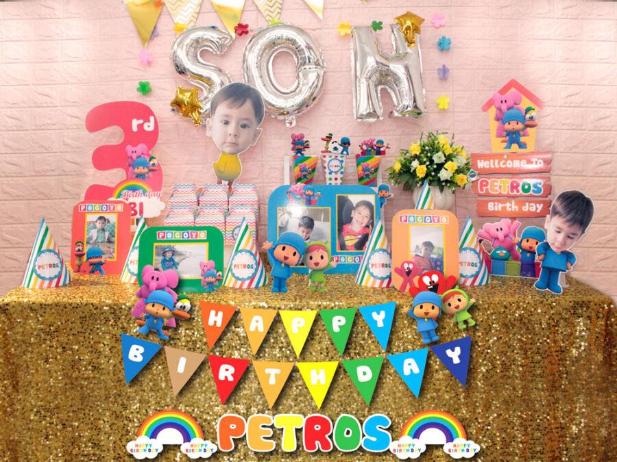 Bộ phụ kiện sinh nhật chủ đề Petros