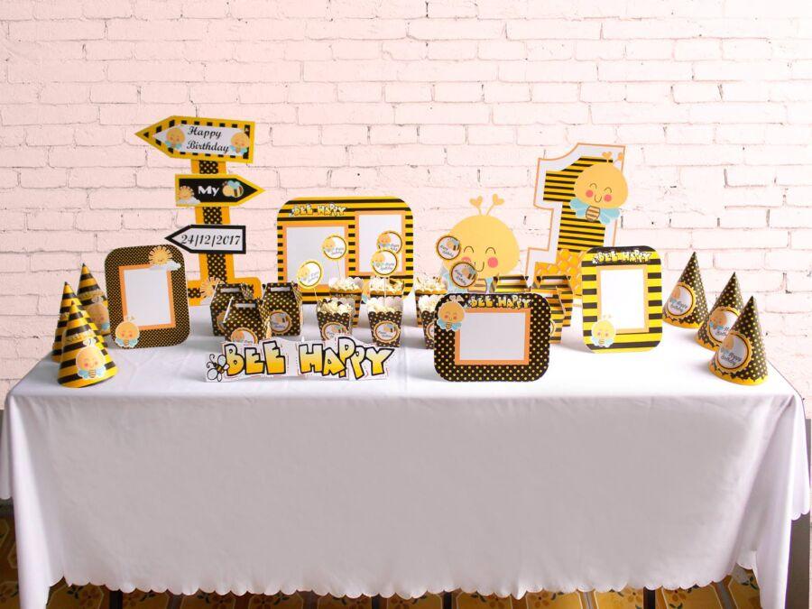 Bộ set trang trí sinh nhật cho bé chủ đề Bé Ong