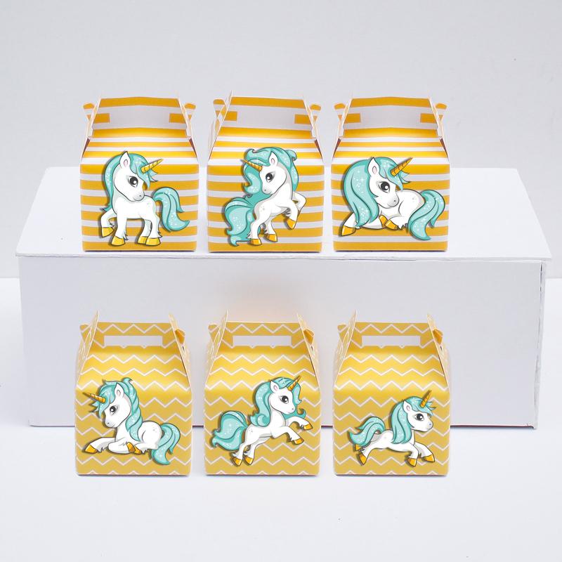 Set hộp quà sinh nhật Unicorn Boy màu vàng zigzag