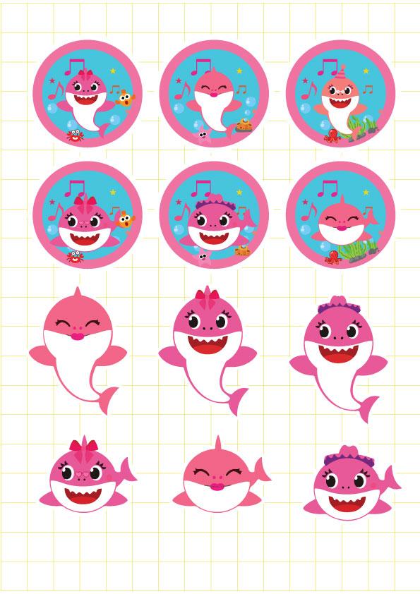 Ruột bộ tem bắp rang bơ Baby Shark Girl
