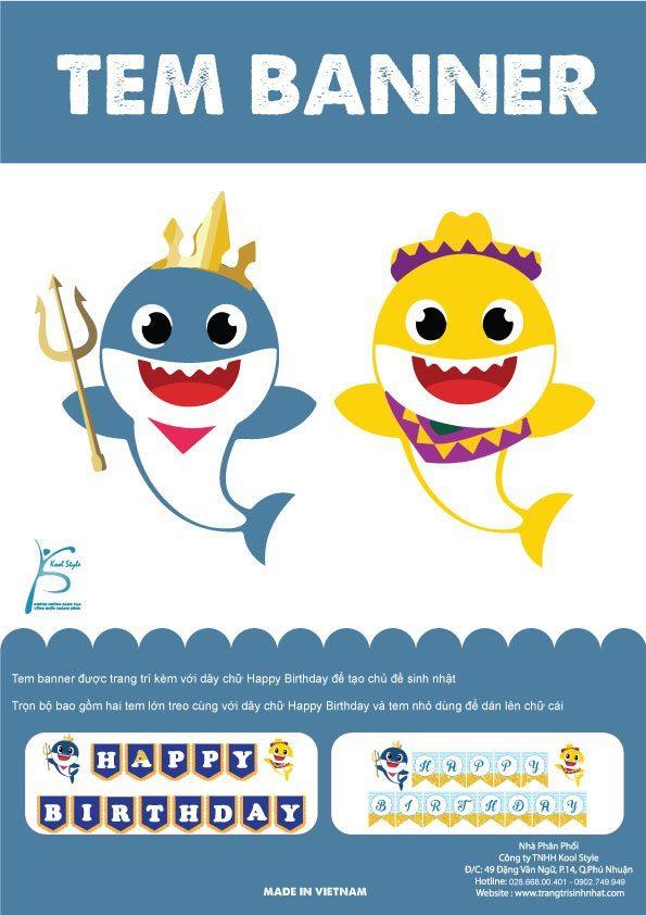 Bìa tem dây chữ Baby Shark Boy