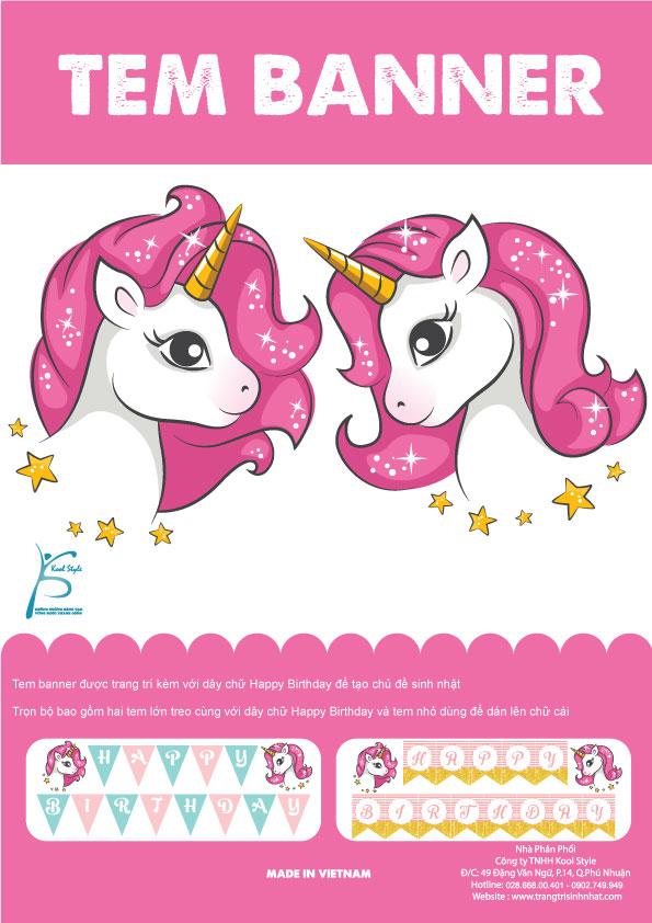 Bìa tem dây chữ Unicorn girl