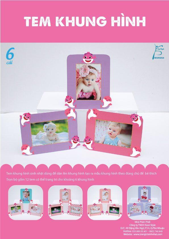 Bìa tem khung hình Baby Shark Girl