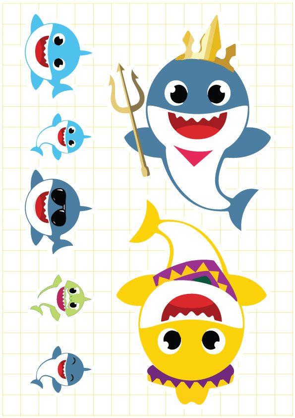 Ruột tem dây chữ Baby Shark Boy