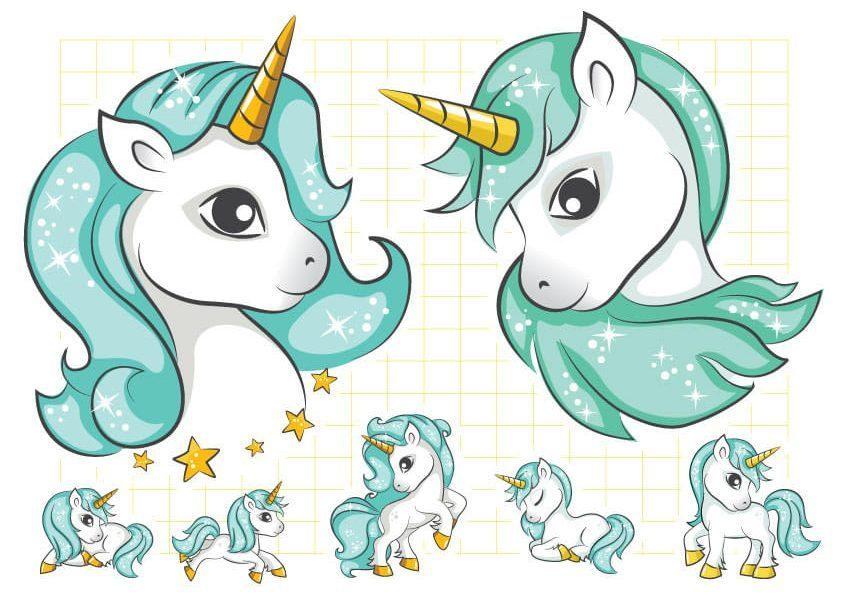 Ruột tem dây chữ Unicorn Boy