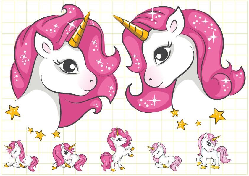 Ruột tem dây chữ Unicorn Girl