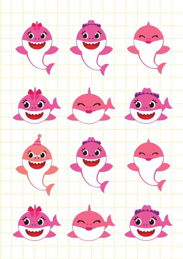 Ruột bộ tem khung hình Baby Shark Girl