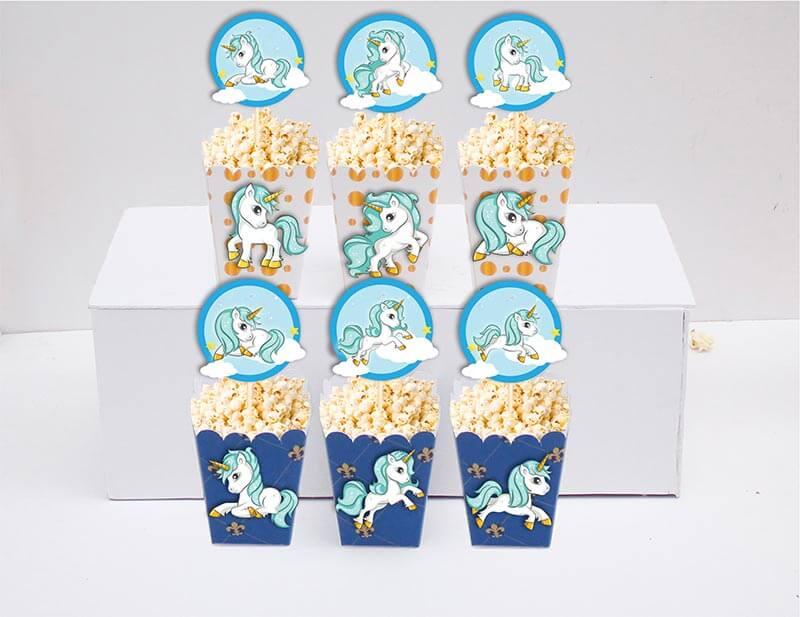 Tem bắp Unicorn Boy màu xanh hoàng gia