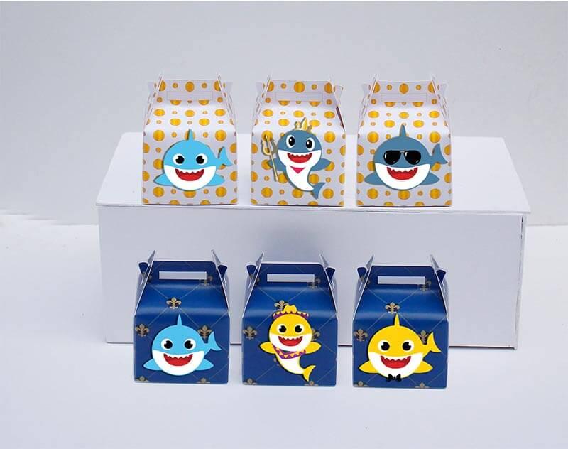 Set hộp quà sinh nhật Baby Shark boy màu xanh hoàng gia