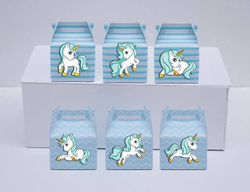 Set hộp quà sinh nhật Unicorn Boy màu xanh da trời