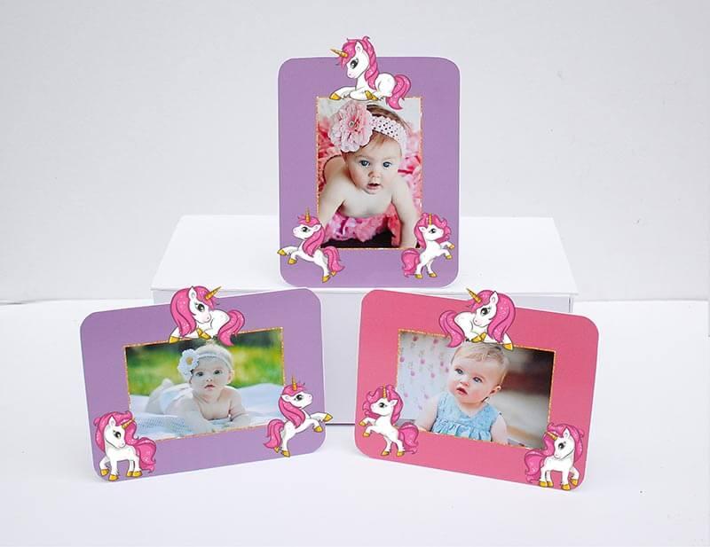 Set khung hình Unicorn Girl màu Hồng tím