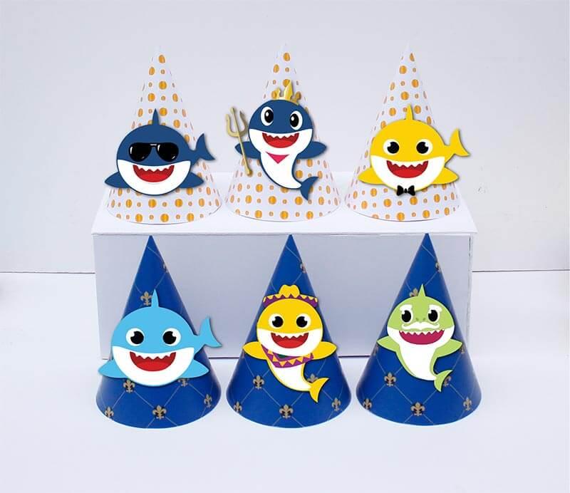 Nón sinh nhật Baby Shark Boy màu xanh hoàng gia