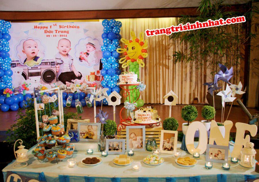 trang trí bàn tiệc sinh nhật cho bé