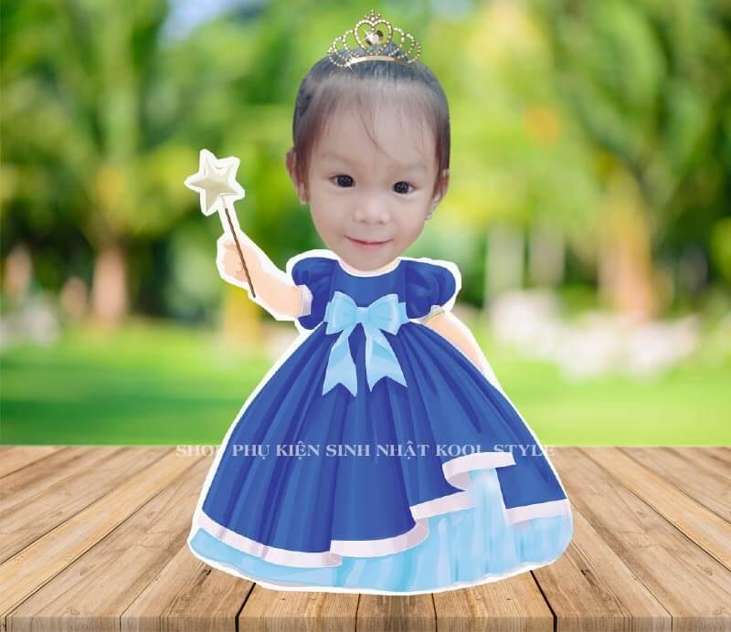 Chibi công chúa đầm xanh