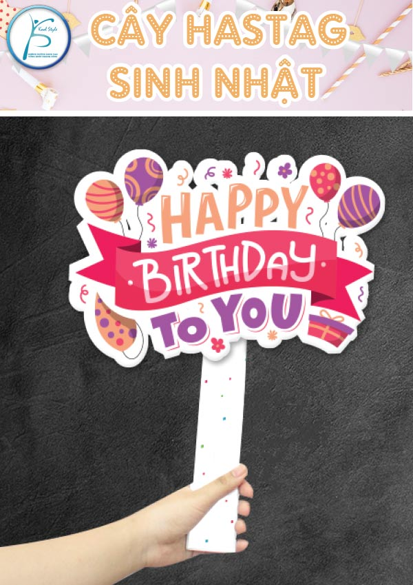 Cây hastag sinh nhật mẫu 1