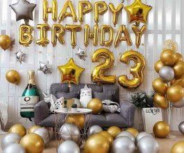 Trang trí sinh nhật cho bạn trai 23 tuổi