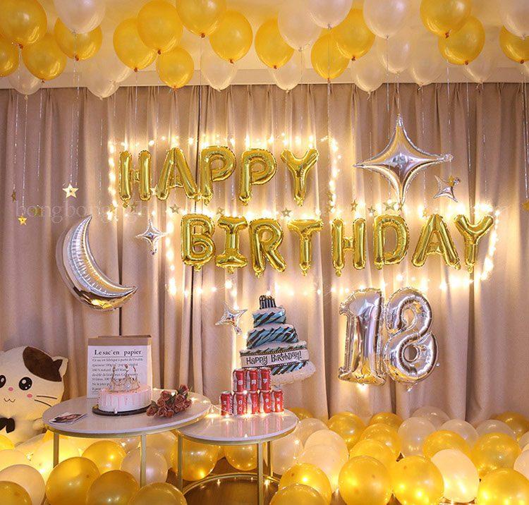 Trang trí sinh nhật 18 tuổi cực đẹp