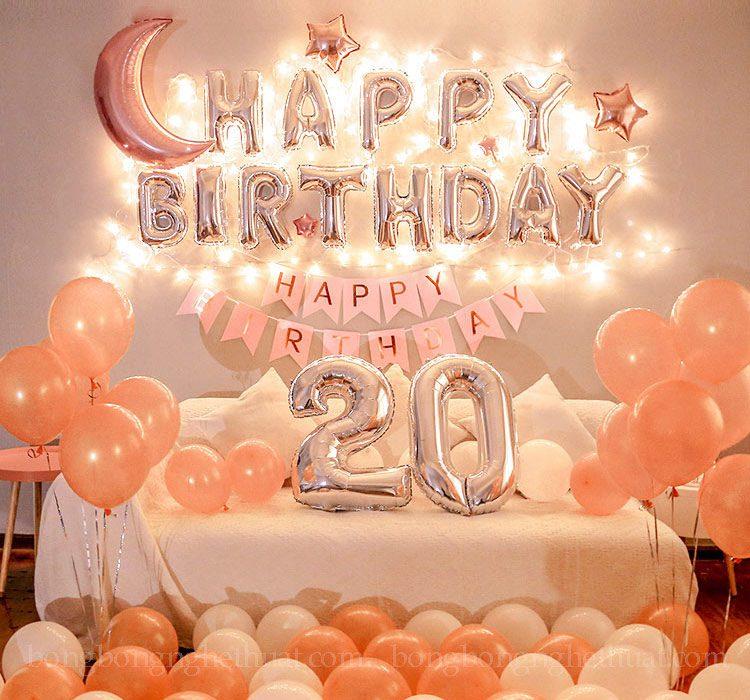 Trang trí sinh nhật 20 tuổi tại nhà