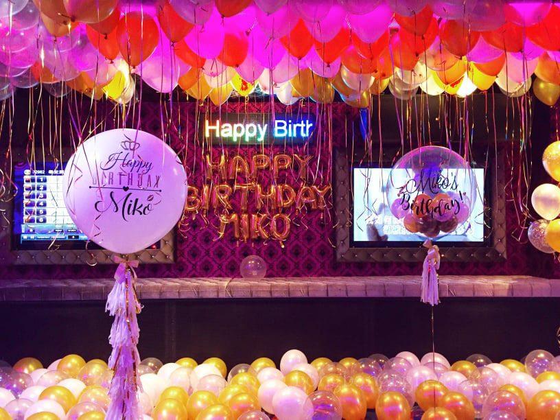 trang trí sinh nhật tại phòng karaoke