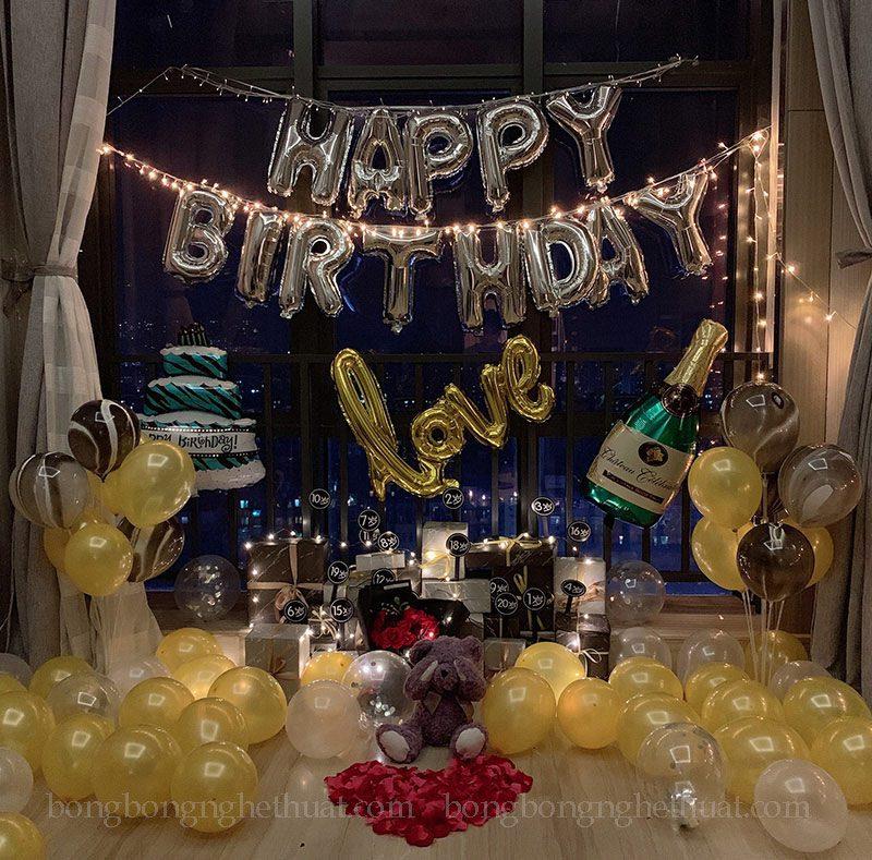 Trang trí sinh nhật đơn giản cho người yêu
