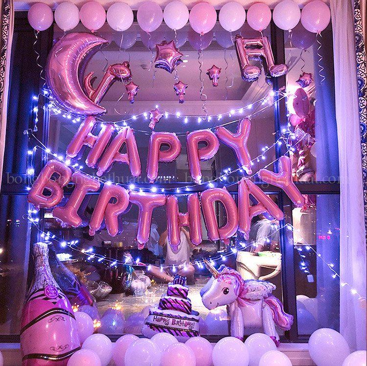 Trang trí sinh nhật màu hồng cho người yêu âm nhạc