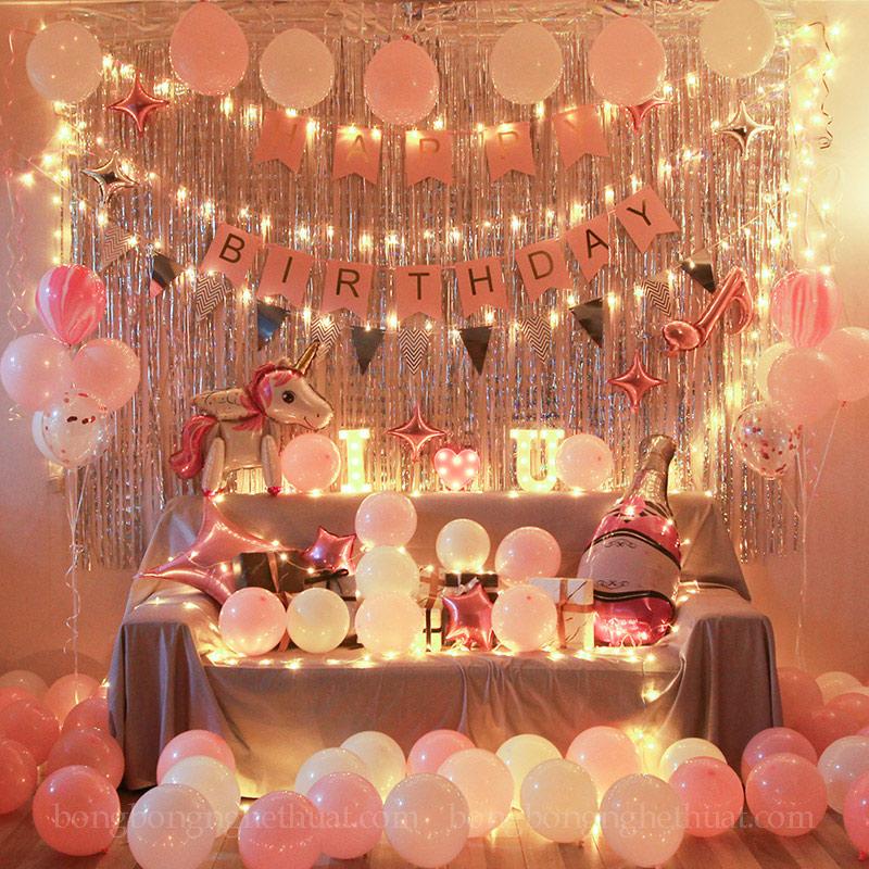Trang trí sinh nhật người yêu lãng mạn